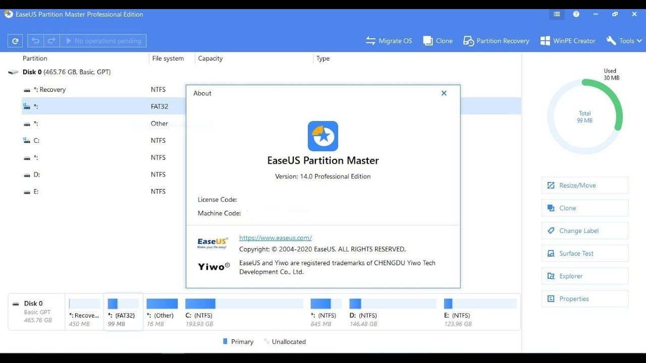 EaseUS Partition Master 16.0 Patch For All Edition [2021] Download